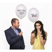 Ballon - Will you marry me? - Yes! (weiß)